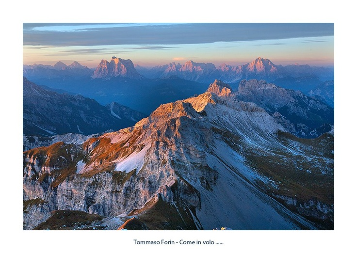 Dolomiti bellunesi con Pelmo e Antelao sullo sfondo, Veneto, Italy