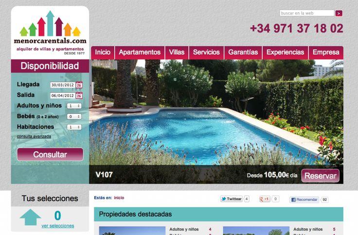 MenorcaRentals.com nueva web de reserva online de apartamentos y villas en Menorca realizada por Context y Binary