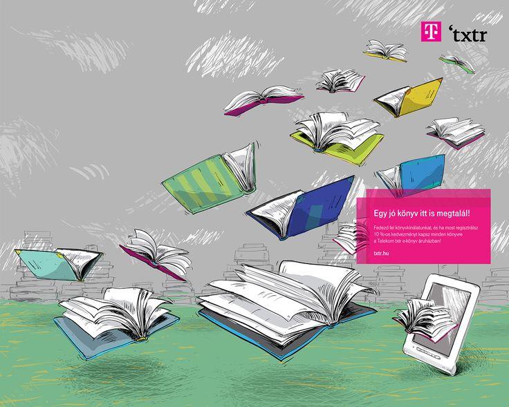 Telekom 'txtr illustration on Behance