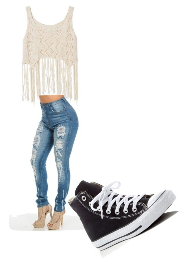 """Untitled #16"" by brookohl on Polyvore featuring Converse"