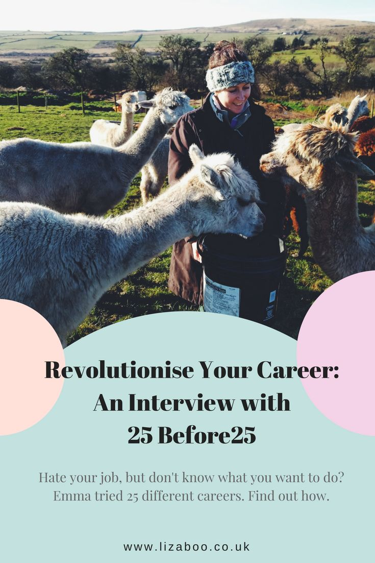 Revolutionsing Our Career Mindset - An Interview with 25Before25.  Emma tried 25 different jobs in just one year!