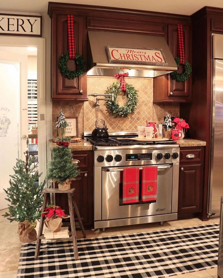 mrs claus on instagram merry monday christmas dears how festive is this kitchen all decked on farmhouse kitchen xmas id=29982
