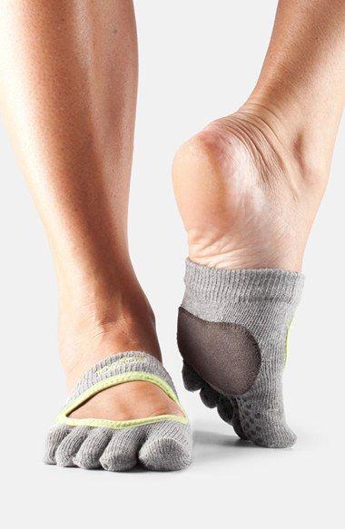 Women's ToeSox 'Dance Releve' Full Toe Gripper Socks