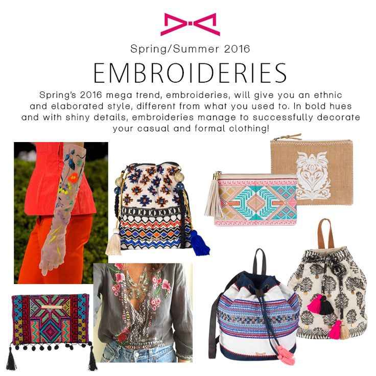 Craving for Spring/Summer 2016 trends. Embroideries is a beloved one.