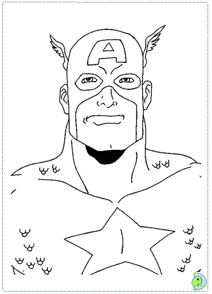 captain america coloring page - Captain America Pictures To Color