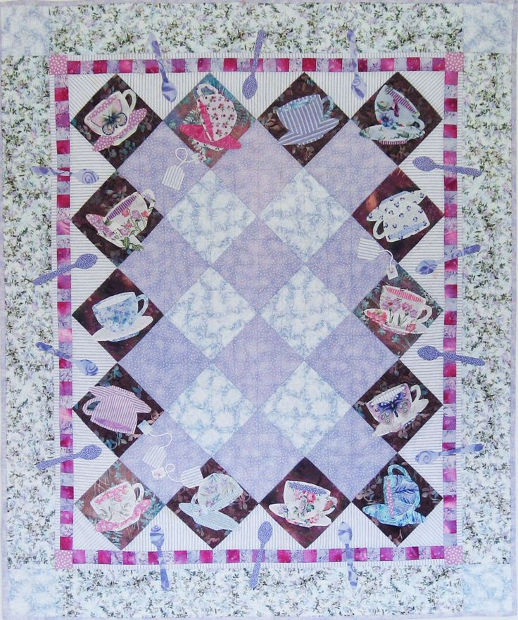 Cupsey Turvey quilt pattern by Karen Brow at Java House Quilts as seen at Quilt Inspiration: