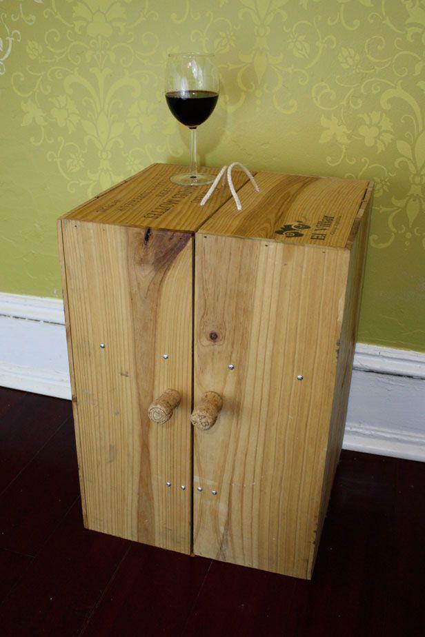wine crate furniture. photo of wine crate minibar furniture
