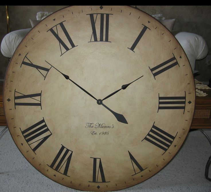 30 inch large wall clock antique rustic tuscan gallery custom round roman