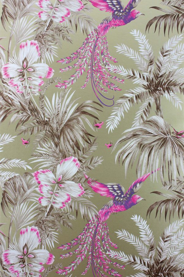 Bird of Paradise Wallpaper & Fabric from Osborne & Little