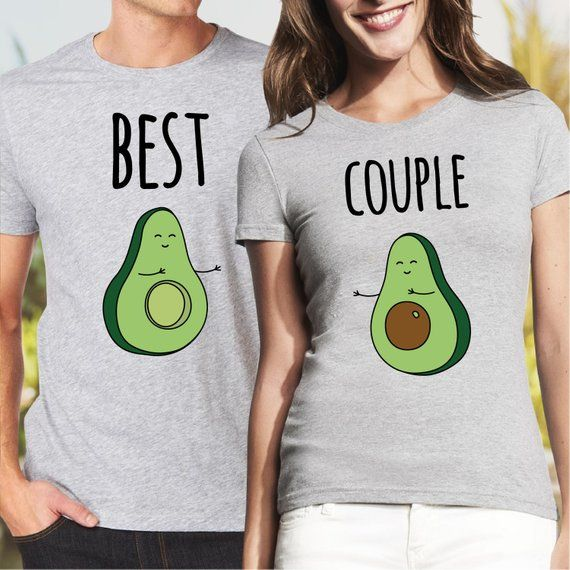 Pärchen T Shirt Couple Avocado Shirts wvn80mN