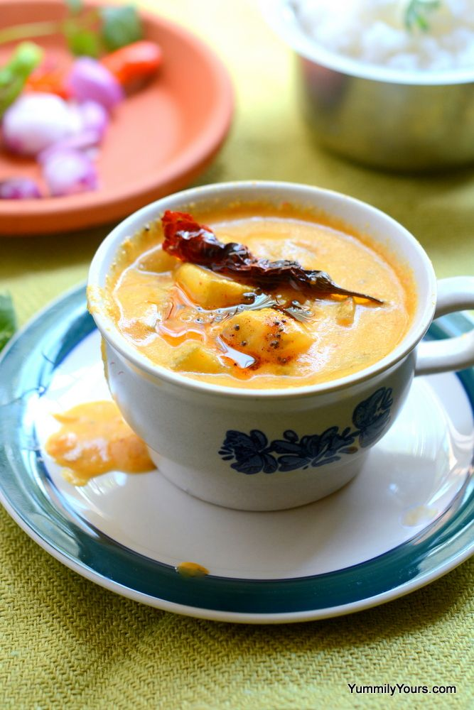 Kairichi Amti, a raw mango curry, is a sweet, tart and spicy curry that tastes delightful with hot rice. Easy recipe that will be your summer in a bowl