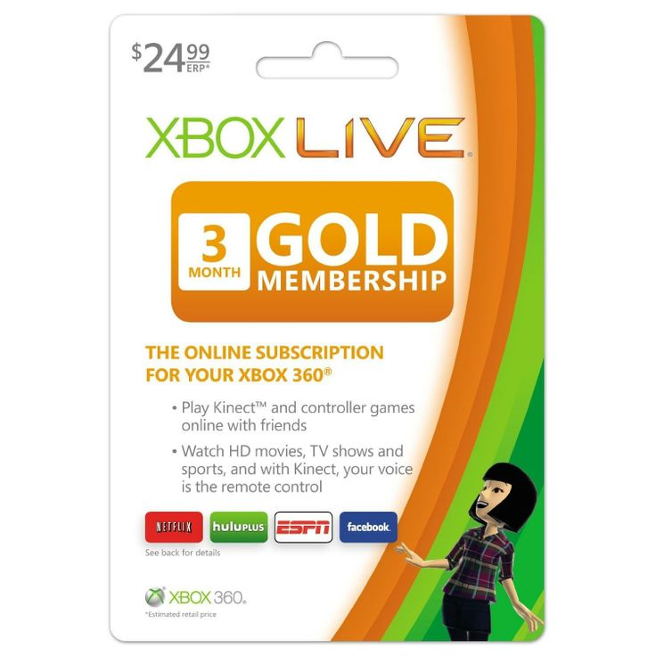 Best Xbox Live 3, Xbox Live 3  Month Gold Membership [Online Game Code] ...