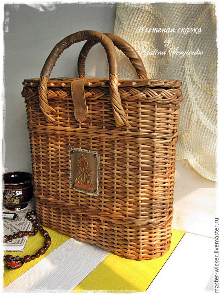 """Купить Сумка """"Парижанка"""". - коричневый, однотонный, сумка, сумка ручной работы, летняя сумка"""