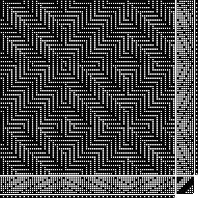 shadow | parallel threading treadling | 8-shaft, 8-treadle