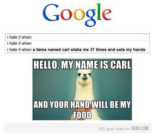google scares me sometimes with it's search results...