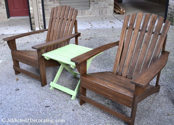 Cheap But Pretty Stained Adirondack Chairs