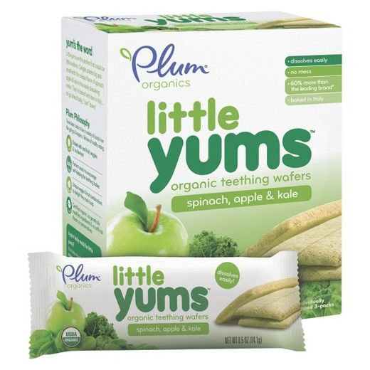<p>Little Yums, a line of baby teething wafers made with whole grain buckwheat and real fruit & veggies, is the perfect first snack for little teethers. The wafer easily dissolves, encourages self-feeding for teething babies, and is made with unique fruit and vegetable combinations to delight tiny taste buds. Each wafer is baked in Italy with love, and is certified organic using delicious and nutritious ingredients like buckwheat, apple, and kale.</p&am...