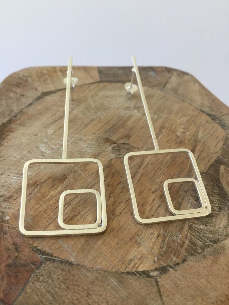 925 STERLING SILVER GEOMETRIC EARRINGS #GoldJewelleryMaking