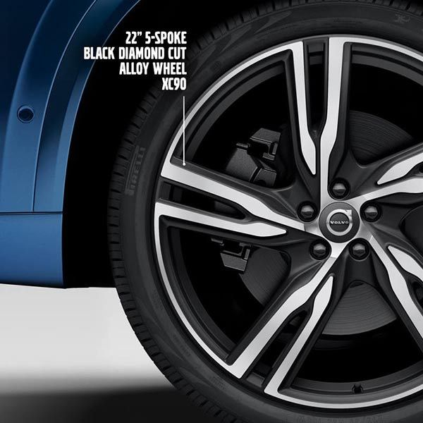 New Volvo XC90 comes with diamond-cut alloy wheels http ...