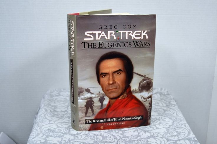 The Rise and Fall of Khan Noonien Singh by Greg Cox (2001, Hardcover)