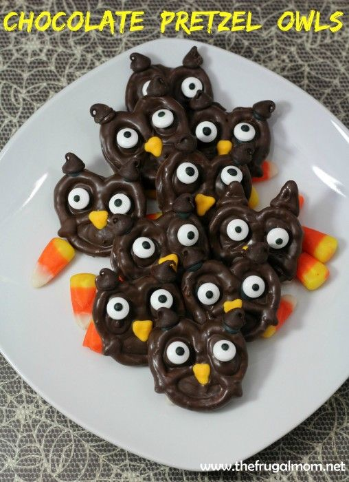 Welcome Fall With This Chocolate Pretzel Owl Dessert