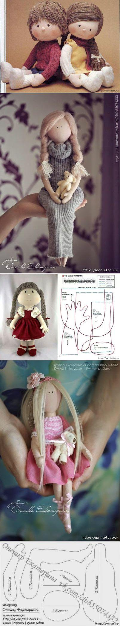 Шьем кукол. Выкройки и мастер-классы