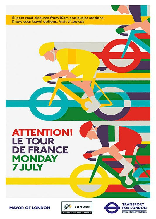 Le Tour the France Poster, available at 45x32cm. This poster is printed on matt coated 350 gram paper.