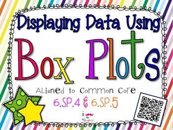 Displaying Data Using Box Plots **QR CODE Task Cards** Aligned to 6.SP.4 and 6.SP.5 box and whiskers plots