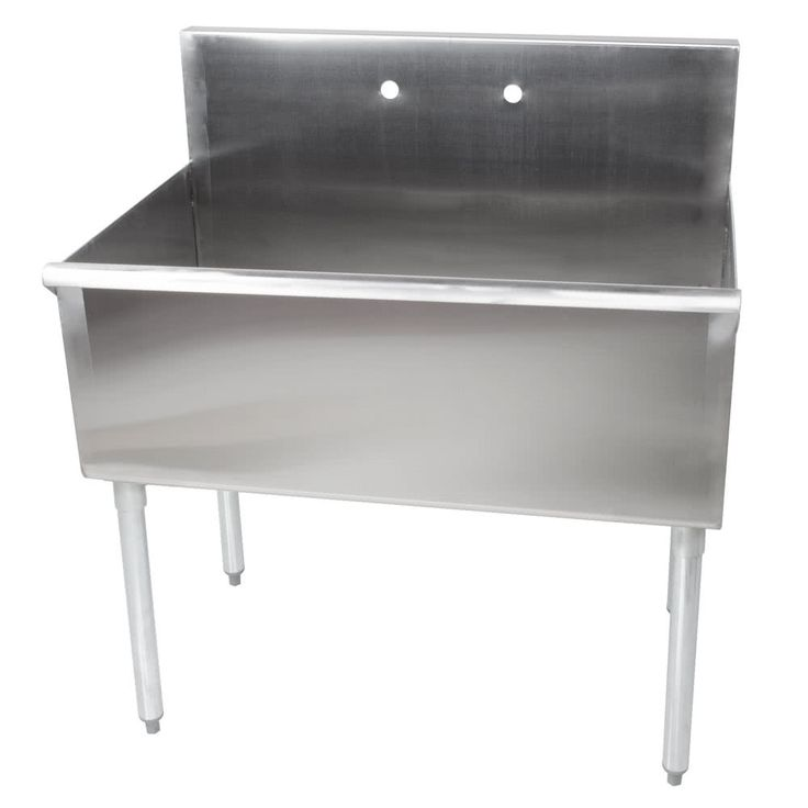 Regency 36 16 Gauge Stainless Steel One Compartment Commercial Utility Sink 36 X 21 X 14 Bowl Stainless Steel Utility Sink Stainless Steel Farmhouse Sink Utility Sink
