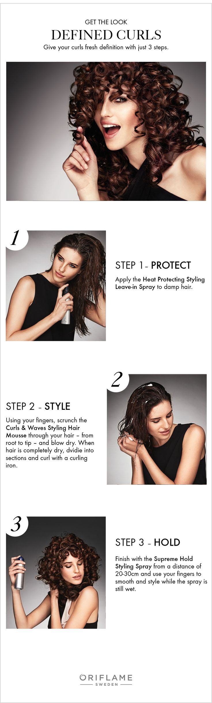 Want to flaunt those curls without worrying about a lot of frizz? We've created 3 easy-to-follow steps using HairX Styling products to give your curls fresh definition.