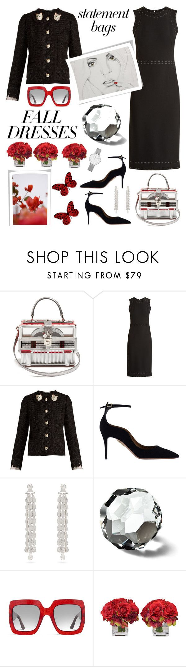 """Statement Bag"" by sukia ❤ liked on Polyvore featuring Dolce&Gabbana, Dolce Vita, Sophia Kokosalaki, Ralph Lauren, Gucci, The French Bee, Daniel Wellington and GUINEVERE"