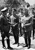 Walther von Brauchitsch, Ewald von Kleist and Walter von Reichenau, 1941 - Stock Photo