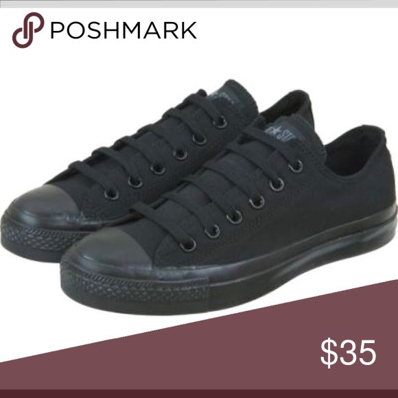 All black low top converse Only worn once Converse Shoes Sneakers