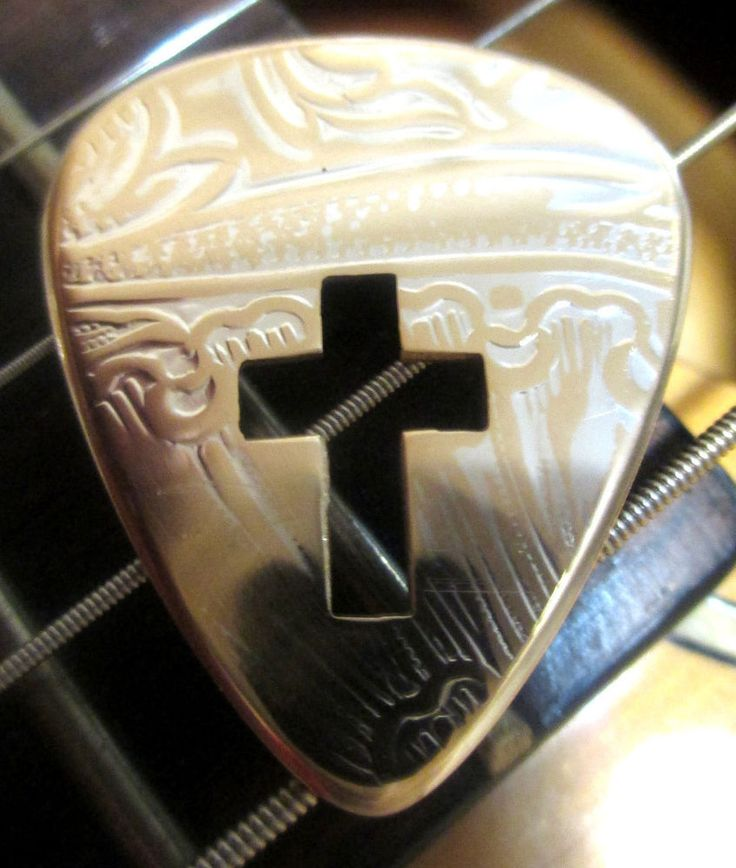Vintage Silver & Brass Cross Guitar Pick Taylor Fender Lot Acoustic Electric. Click on the picture to buy!