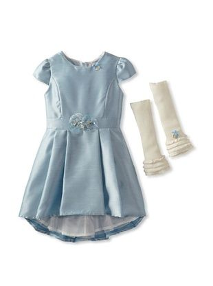 57% OFF Blumarine Girl's Georgette Dress (Blue)