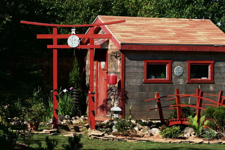 17 best images about japanese themed on pinterest front for Japanese style garden buildings