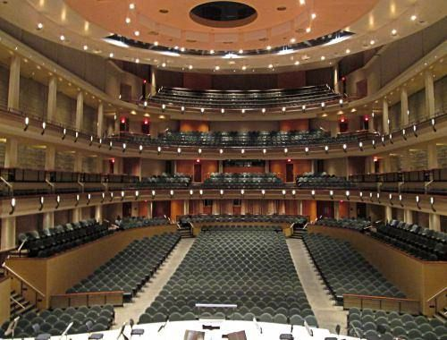 Inside The Winspear Centre in Edmonton. Did you know you can take a free lunch tour of this concert hall?