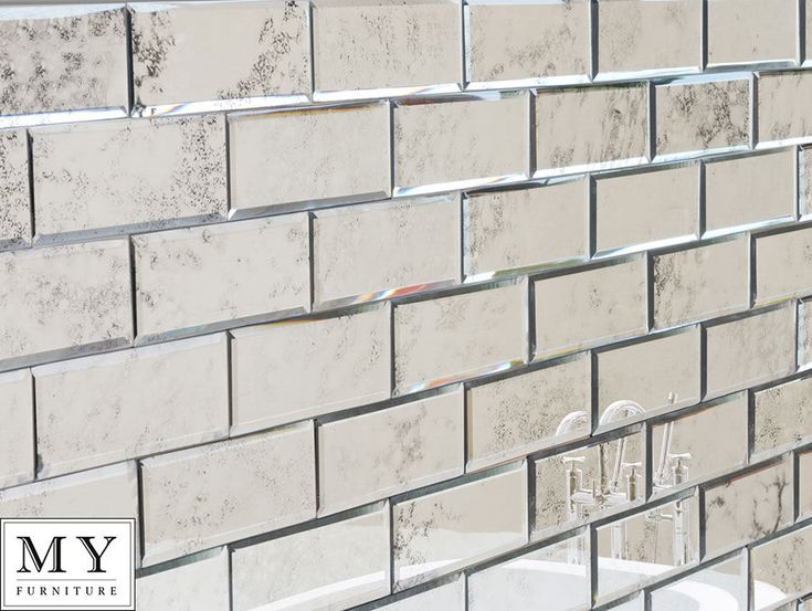 Details About Antiqued Mirror Beveled Wall Tiles / Bathroom Kitchen  MY Furniture Brick Size Part 78