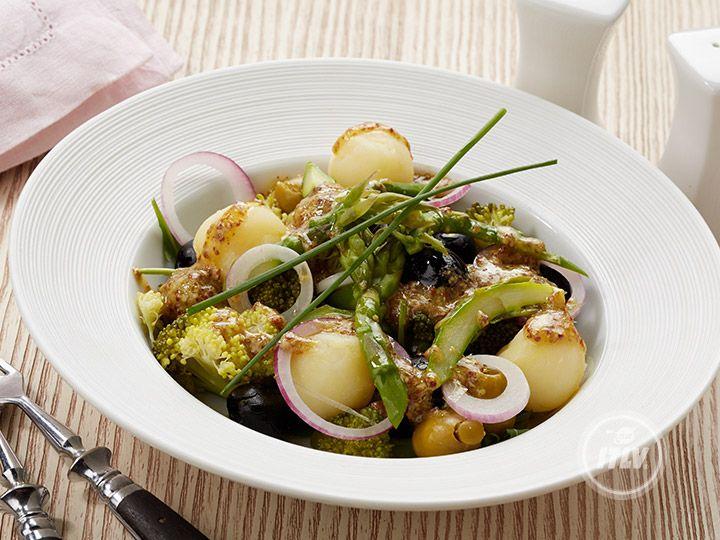 Марокканский картофельный салат с маслинами и оливками