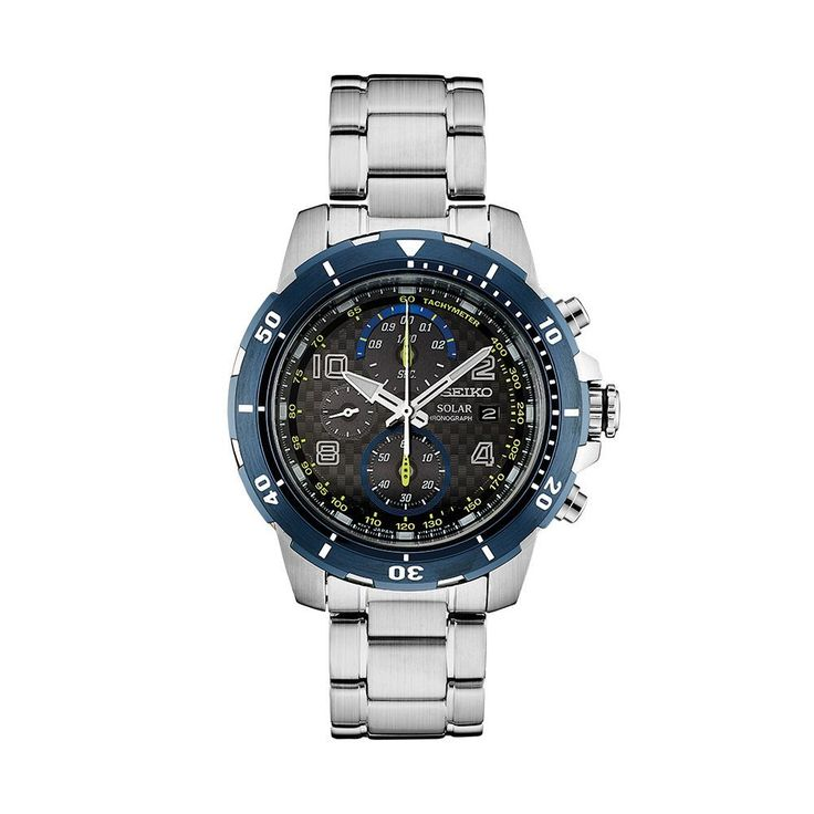 Seiko Men's Core Jimmie Johnson Special Edition Solar Watch & Interchangeable Band Set - SSC637, Size: Large, Silver