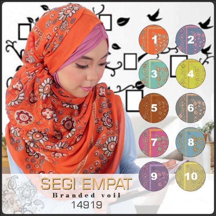 Jilbab Segi Empat Motif Murah Branded Voil 14919