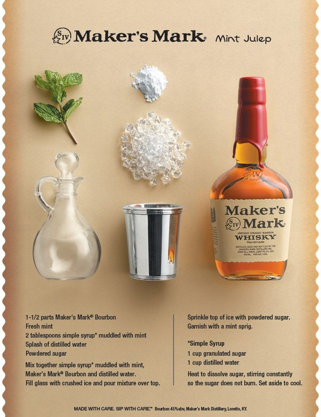 The inspiration for the challenge, the Maker's Mint Julep. #JulepOff