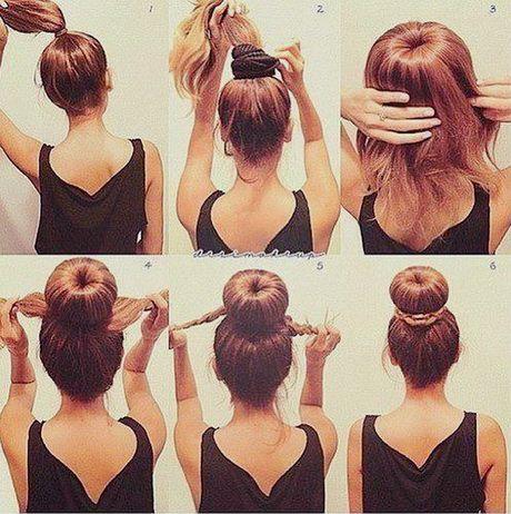 Comment mettre un bun cheveux mi long