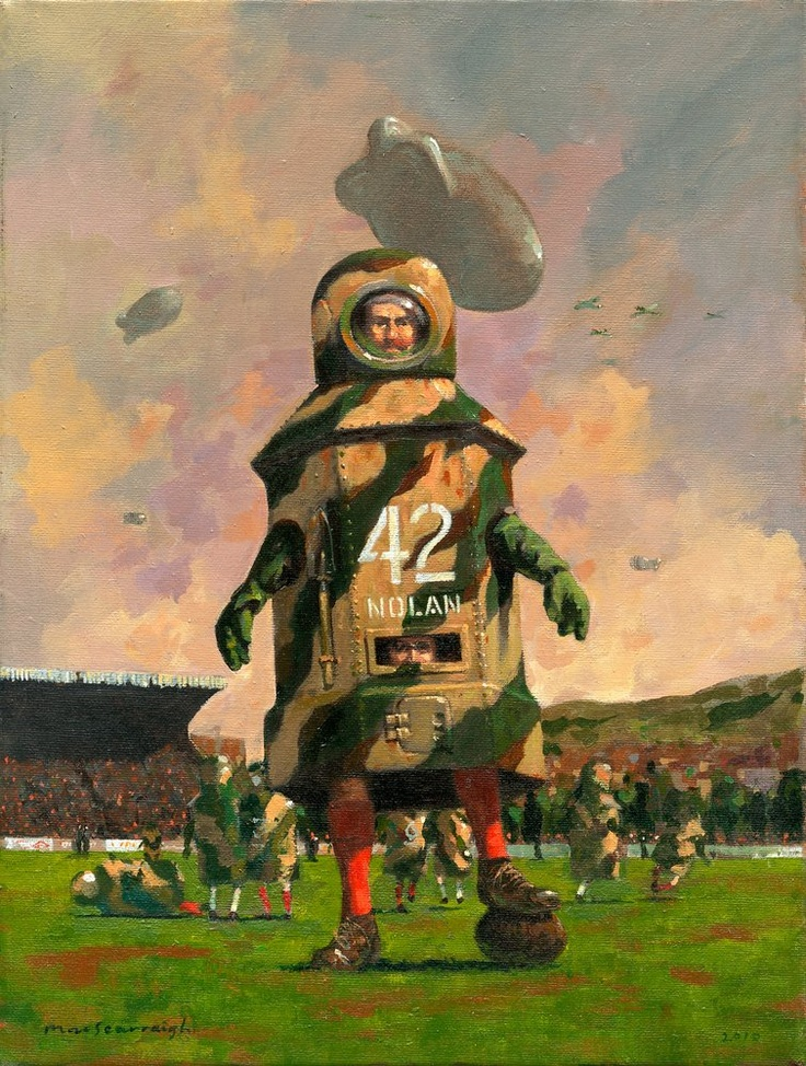 """$120 (Subject to exchange rates). """"Nolan of the Ninth"""". http://www.thecopperhousegallery.com/artists/55-Kevin-McSherry/works/160/#"""