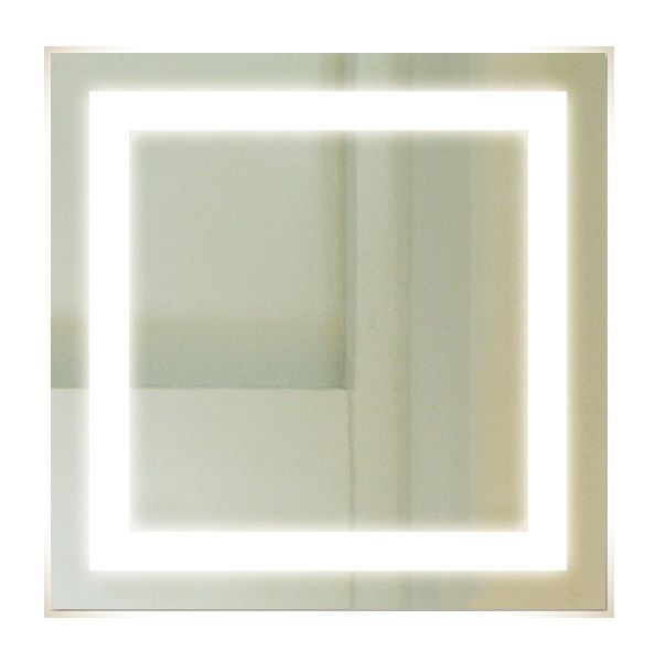 Backlit Square Bathroom Mirror with LED Border