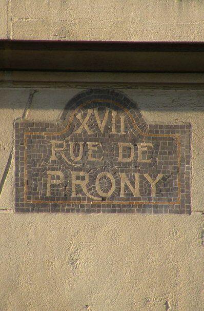 La rue de Prony  (Paris 17ème).
