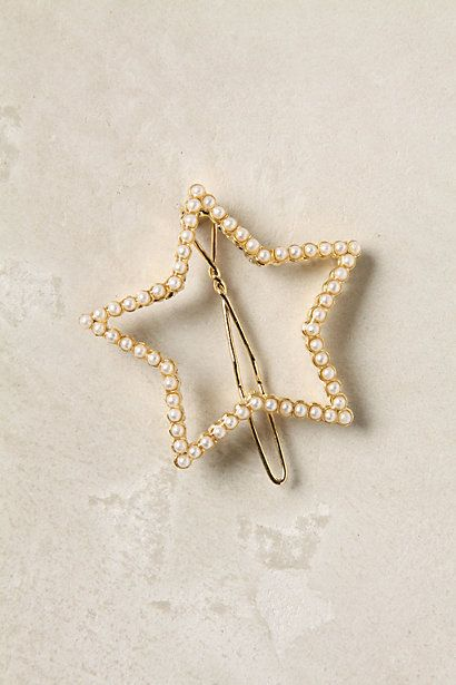 I just like this tiny star hairclip.Hair Clips, Starry Night, Clips Stars, Anthropologie Com, Wishupon Hairclips, Accessories, Pearls Stars, Stars Barrett, Stars Hairclips