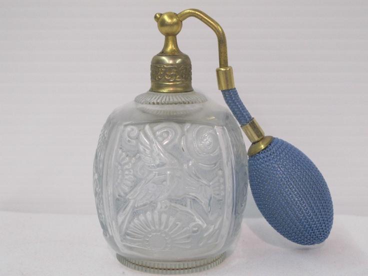 Art Noveau 1920s Robj Paris Lalique Perfume Bottle with Birds and Flowers   eBay