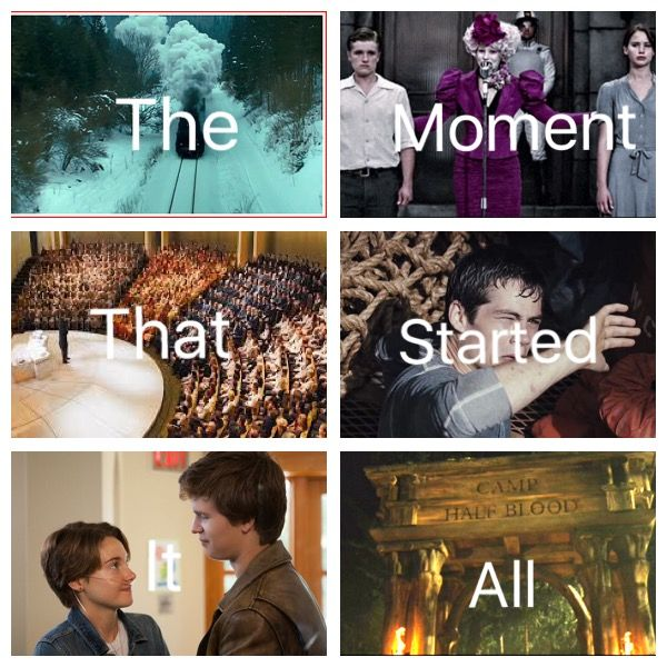 Harry Potter, The Hunger Games, The Giver, The Maze Runner, The Fault in our Stars, Percy Jackson