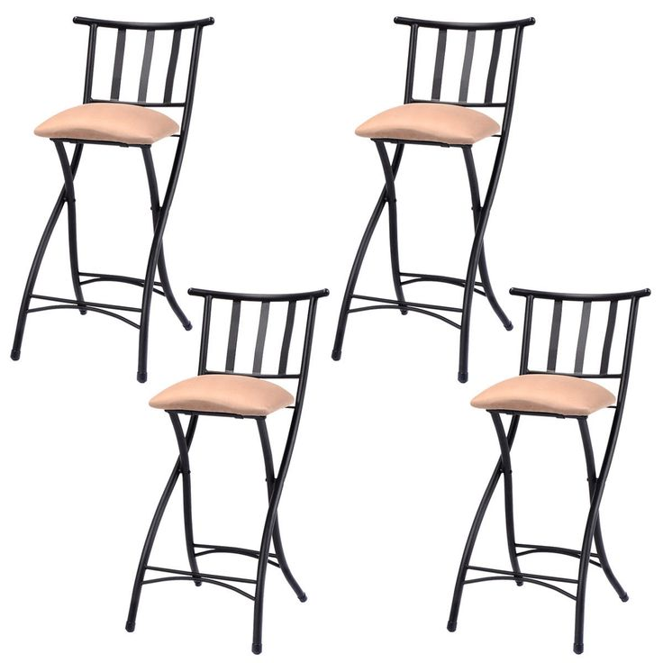 Costway Copper Set Of 4 Metal Wood Counter Stool Kitchen: 1000+ Images About Furniture On Pinterest